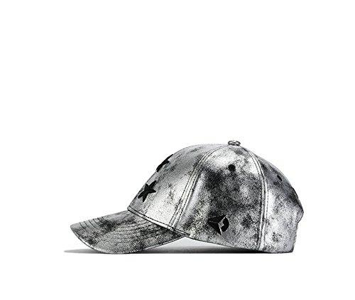 béisbol para única MAYBAO hombre Plateado plata Gorra Talla de 4wcqpv1cA