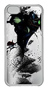 iPhone 5C Case, iPhone 5C Cases - Anti-Scratch Crystal Clear Hard Back Case for iPhone 5C Jax League Of Legends Game Shock-Absorption Hard Back Bumper Case for iPhone 5C