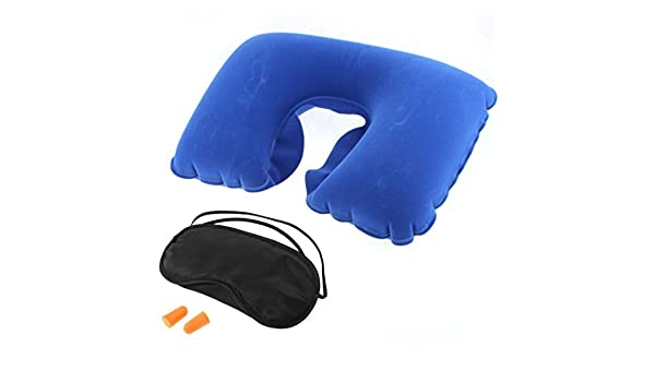 Amazon.com: eDealMax viaje Mascara Para Inflable Almohada Para Cuello de ojos auriculares Conjunto 3 en 1: Home & Kitchen