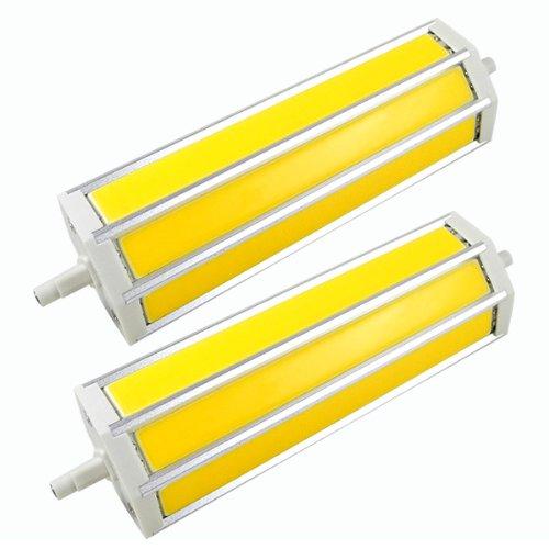 2 x Mengs® R7S COB LED bombilla 6 W 10 W 15 W AC 85 - 265 V Blanco Cálido 3000 K con aluminuium abrigo, blanco cálido, R7s, 15.00 wattsW, 240.00 voltsV: ...