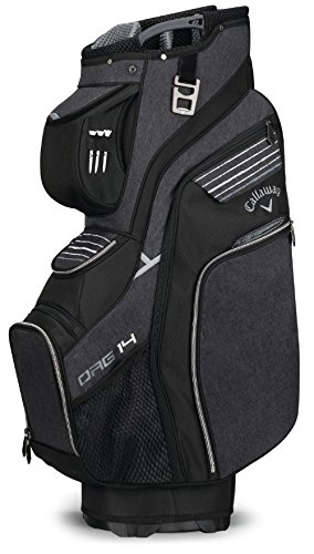 Callaway Golf 2018 Org 14 Cart Bag, Black/ Silver/ White