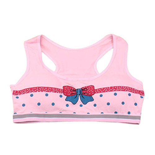 Sports Yoga Stretch ,Beautyvan Comfortable Fashion Sports Girls Printing Underwear Bra Vest Children Sport Underclothes (Pink)