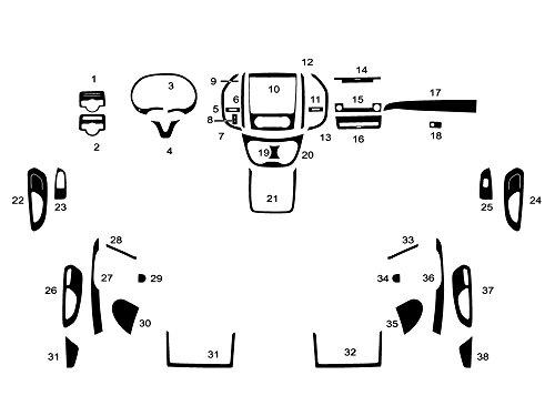 Rdash Dash Kit Decal Trim for Mercedes Metris 2016-2017 - Wood Grain (Mahogany)