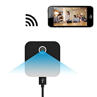 Security WiFi IP Charger Camera Motion Detection Night Vision, Bysameyee 1080P Spy Wireless Hidden Wall Plug USB Power Adapter Office Home Surveillance by Bysameyee