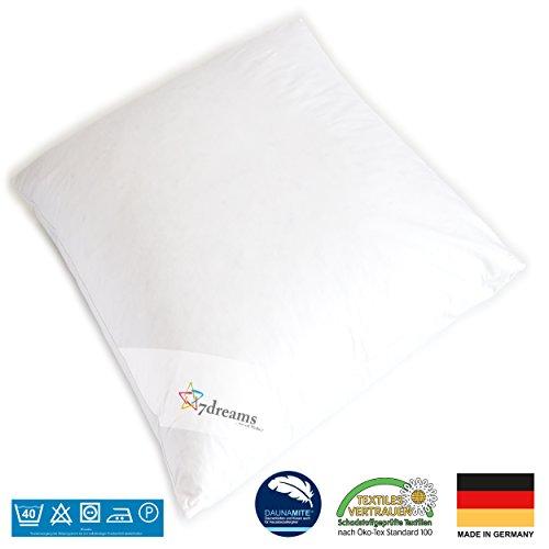 7dreams® 3 Kammer Kopfkissen - Deutsches Qualitätsprodukt - 80x80cm - 1060g Füllgewicht