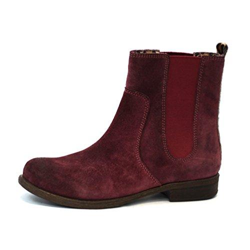Lucky Brand botas de pull on con tacón bajo chelsea, estándar del Reino Unido 3,5, de £110 rojo - rojo