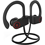 Bluetooth Headphones, REYEHO Best Wireless Sports Earphones W/Mic IPX7 Waterproof HD Stereo Sweatproof in Ear Earbuds Gym Running Workout 8 Hour Battery Noise Cancelling Headsets