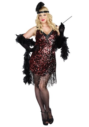Dames Like Us Costume - Plus Size 1X/2X - Dress Size (1930 Halloween Costumes)