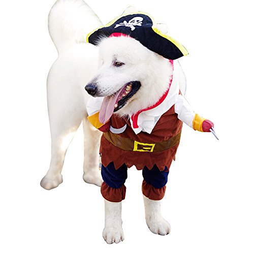 Spider Costumes For Dogs For Sale (Cideros Pet Clothes Dog Costume Cat Costumes Outfit Christmas Party Dress Pirates of the Caribbean Design Style - Size XL)