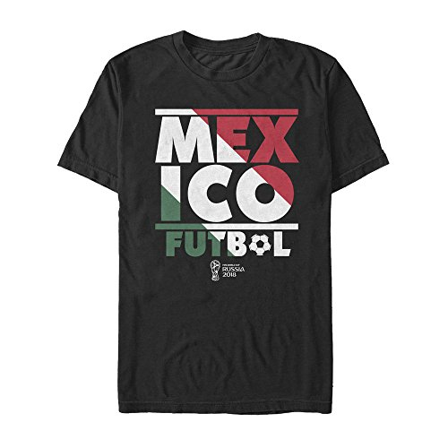 Mexico Tee World Cup (Fifth Sun FIFA World Cup Russia 2018 Men's Mexico Stripes Black T-Shirt)
