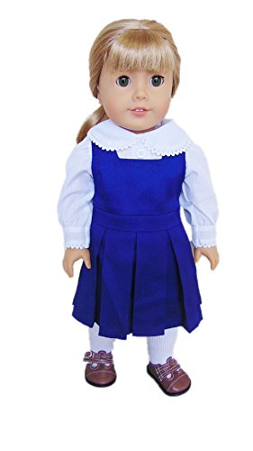 My Brittany's Navy Blue Catholic School Jumper for American Girl Dolls (Doll Girl American Jumper)