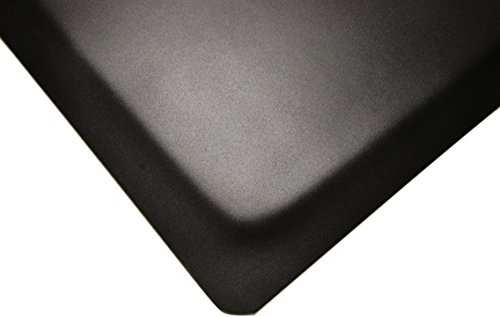 Rhino Mats HDT-2436RNS Heavy Duty Top Anti-Fatigue Mat with Rhi-No-Slip, 2' Width x 3' Length x 1/2'' Thickness, Black by Rhino Mats