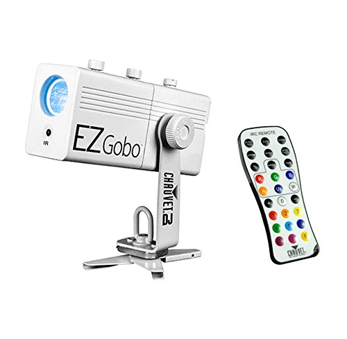 Chauvet DJ EZGobo Battery Powered LED Wedding Logo Projector with IRC-6 - Projector Chauvet
