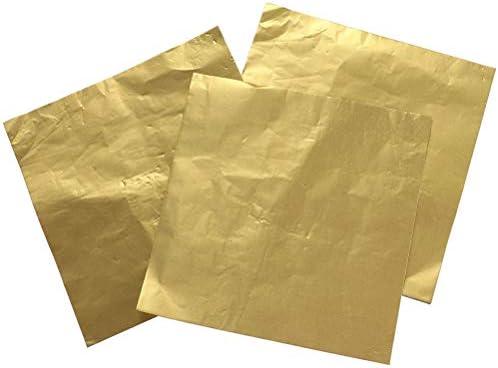 Lot de 100 feuilles de papier cadeau en m/étal dor/é rose fin les f/êtes danniversaire utilis/é pour les loisirs cr/éatifs les mariages le bricolage