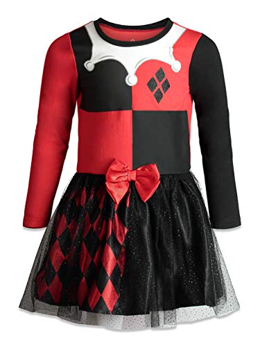Warner Bros. Harley Quinn Toddler Girls' Costume Dress, 3T]()