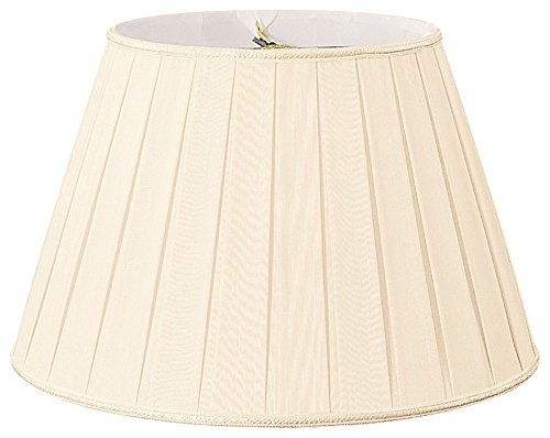 Royal Designs Round Pleated Designer Lamp Shade, Eggshell/Ivory 12.5 x 20 x 13.5 by Royal Designs, Inc