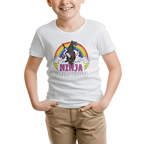 Ninja Unicorn Samurai Martial Arts Toddler Children Short Sleeve Personalized Comfortable Knitted T-Shirts