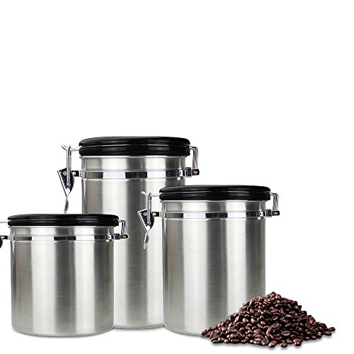 Food canister - Dili Food Storage Canister,Dried fruit storage tank and Stainless Steel Coffee canister- Container Airtight Canister with Valve-S-30.4 oz by DIli