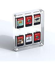 Hagibis Game Card Case voor Nintendo Switch, 6 Cartridge Slots Houder Beschermende Schokbestendige Vitrinekast, Transparant Acryl Game Opbergdoos voor Switch NS NX
