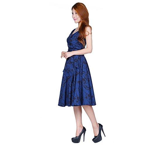 50 blau 36 56 Star mit Größen 44 Print 40 60 UK Kleid 58 Wrap 54 46 ...