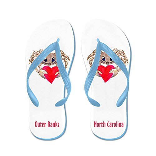 CafePress Outer Banks - Flip Flops, Funny Thong Sandals, Beach Sandals Caribbean Blue