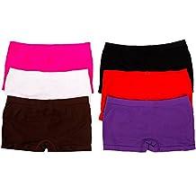 MaMia 6 Women's Seamless Boy Shorts Underwear-Solid