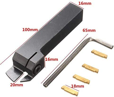 ZGQA-GQA With 4pcs MGMN300 Inserts MGEHR1616-3 External Grooving Tool Turning Tool Holder for 3mm Cut Milling Inserts