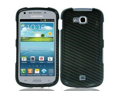 Amazon com: For Samsung Galaxy Axiom R830 Hard Snap-on Case Carbon