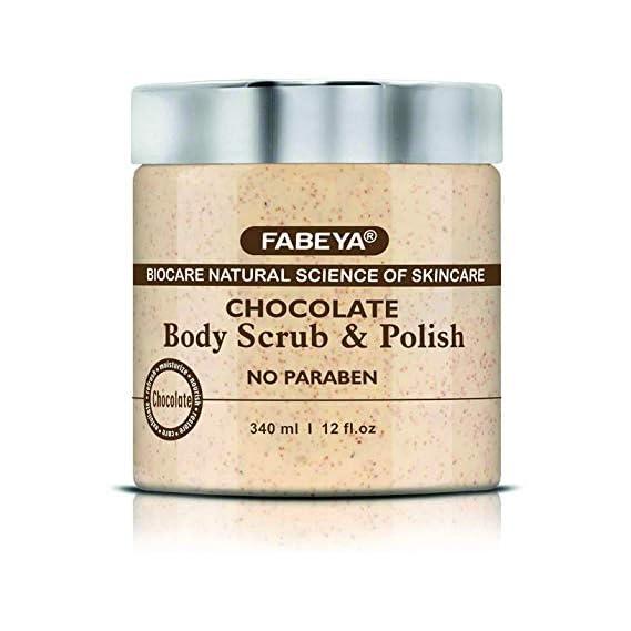 FABEYA Biocare Natural Chocolate Body Scrub and Polish, 340 ml