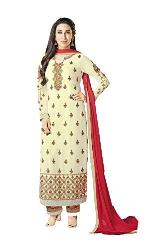 Da Facioun Indian Women Designer Partywear Ethnic Traditonal Anarkali Salwar Kameez. Da Facioun Femmes Indiennes Concepteur Partywear Ethnique Traditionelles Anarkali Salwar Kameez. Cream 4 Crème 4