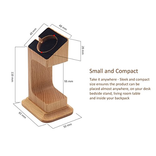 Apple Watch Dock, Blue Hole Stable Elevated Base Wood Apple Watch Charging Stand Dock Station, Support Apple Watch Series 3, Series 2, Series 1 (38 mm & 42 mm) by Blue Hole (Image #5)