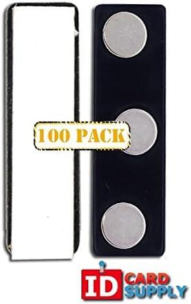 パックのバッジクリップIDカード用の 100 Clips ブラック