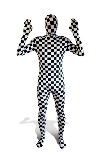 Morphsuits Morphmask Premium Check, Black / White, One Size]()