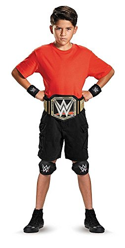 Disguise WWE Championship Belt Child Costume Kit, One Size Child, One Color (Kids Wrestling Belt)