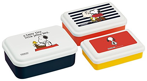 Skater Peanuts Snoopy Assorted Food Containers, Set of 3