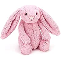 Jellycat 毛绒玩偶 BASHFUL害羞系列之邦尼兔 郁金粉色小号高18cm
