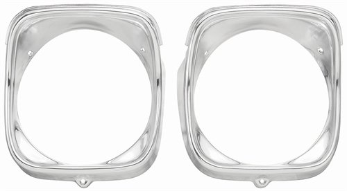 El Camino Headlamp Bezels - Performance Trends C980315 Headlamp Bezels 1968 Chevelle/El Camino RH Inner/Oute