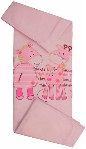 Blueberry Shop Fabulous Newborn Cot Baby Blanket For Little One Birthday Gift Present Pink