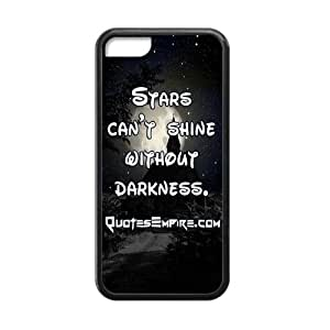"""Canting_Good """"Stars Can't Shine Without Darkness"""" Black and White Custom Case Shell Covers for iPhone 5C TPU (Laser Technology) by lolosakes"""