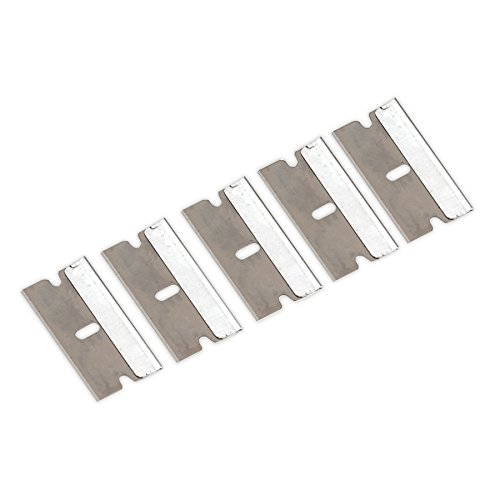 Sealey AK867/1 Razor Scraper Blade-Pack of 5, Silver, Set of 5 Pieces