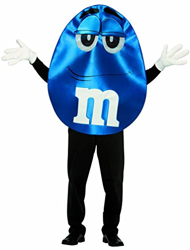 [Rasta Imposta M&M's Character Deluxe, Blue, One Size] (M&m Blue Costume)