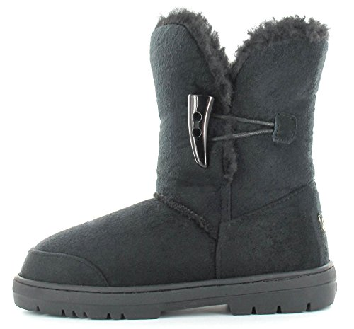 Uk Taglie Fur Faux Shoes Nero Winter Sophie 8 T Boots 3 Warm Ella ZxE0UqnwYw