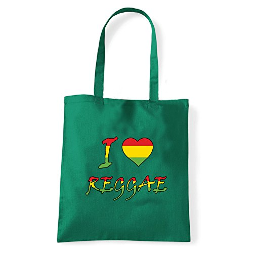 reggae Sac Vert T Porter Art Femme Pour love L'épaule bag À I shirt qYq6wI7
