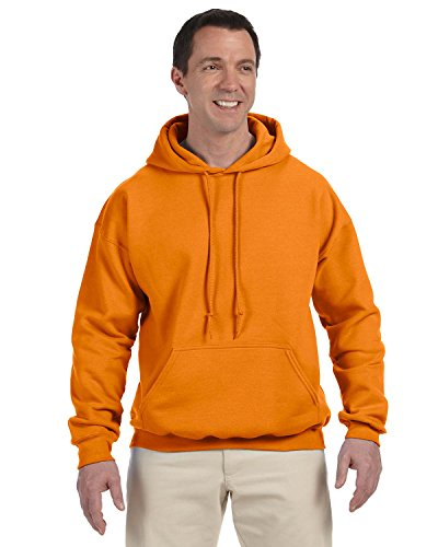 Gildan G125 DryBlend Adult Hooded Sweatshirt, Safety Orange, X-Large
