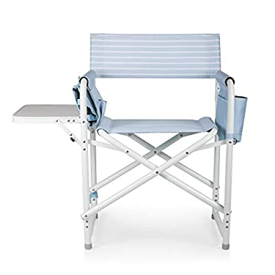 ONIVA - a Picnic Time Brand Outdoor Directors Folding Chair, Mod Denim Stripe : Sports & Outdoors