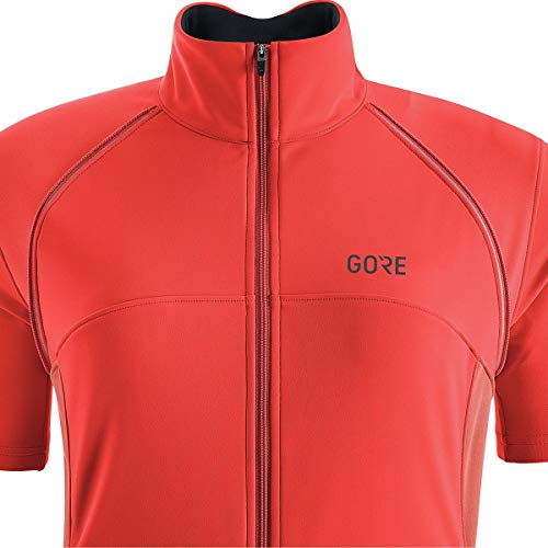 GORE Wear Women's Windproof Cycling Jacket, Removable Sleeves, GORE Wear C3 Women's GORE Wear WINDSTOPPER Phantom Zip-Off Jacket, Size: XL, Color: Lumi Orange/Coral Glow, 100191 by GORE WEAR (Image #2)