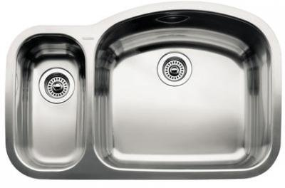 Blanco 510-880R Wave 1 1/2 Reverse Bowl Undermount Sink, Satin Polished Finish (Bowl Reverse Sink)