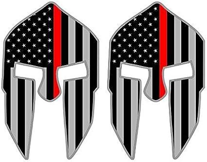 Par – Calcomanías de vinilo para casco espartano | Calcomanías cascos, sombreros duros, bombero rojo linestealthy negro Ops Banderas estadounidenses: Amazon.es: Bricolaje y herramientas
