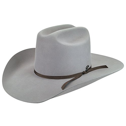 Bailey Western Womens W1602A Harshaw Hat, Gun Metal - 6 7/8