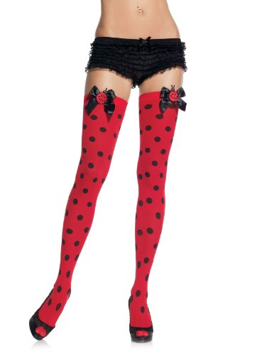 Lady Bug Thigh Highs Costume Accessory -